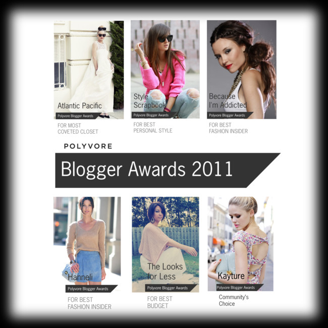 Winners of the Polyvore Blogger Awards