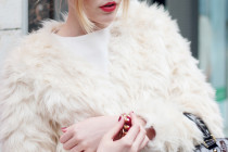 THE WHITE YETI FAUX-FUR JACKET