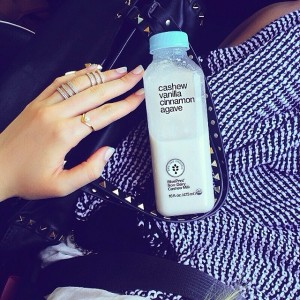 Today's morning drink! @blueprintcleanse's delicious cashew milk before heading for my work-out!