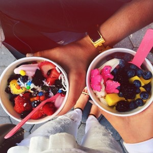 Unconditional froyo lovers with @fionazanetti. We really shouldn't but oh well.