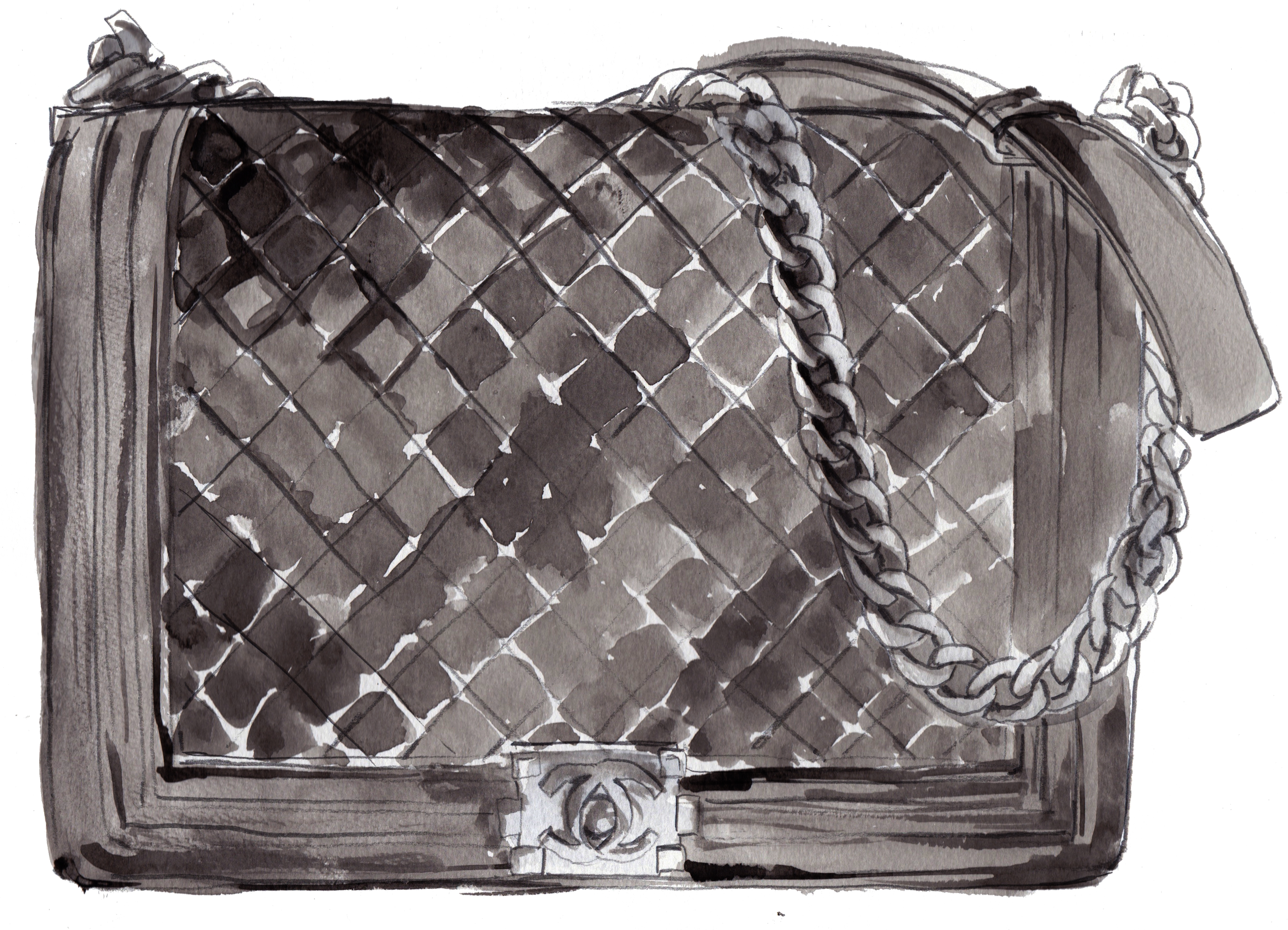 Chanel Bag Illustration Classic Bag – Chanel