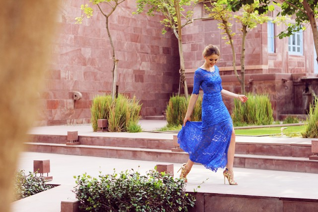 BLUE LACE & GOLD IN JODHPUR