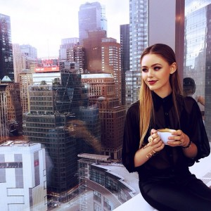 Coffee and the view on New York, what else? #kaytureonthego