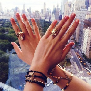 Stack it up! Wearing these incredible pieces from the new @ritazia CHAOS collection