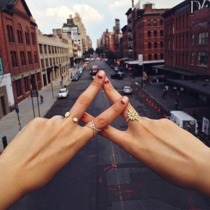 New York love with @lovegoldlive, wearing @jemmawynne and @susanfoster #lovegoldlive #lovegold