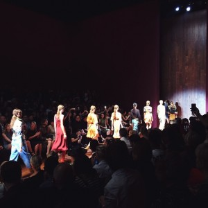 And Milan fashion week kicks off with the @gucci show! Adventurous and colourful