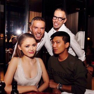 Fabulous dinner with the @dsquared2 family. Enjoying the evening with Dean & Dan and my boo @bryanboycom