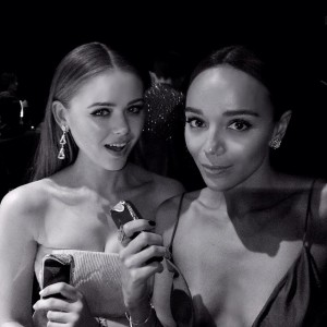 Rocking our @savelligeneva pieces at the @amfar gala in Milan tonight with this beauty @smashleybell