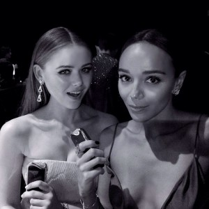Rocking our @savelligeneve pieces at the @amfar gala in Milan tonight with this beauty @smashleybell