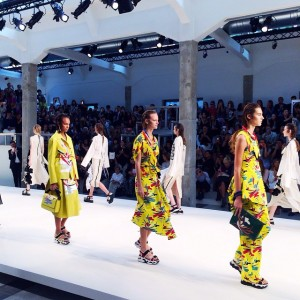 Super bold, colourful Marni show with beautiful prints and sporty structures