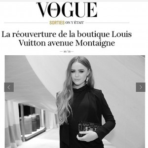 Cruising @vogueparis with my petite malle at the @louisvuitton Montaigne store opening. Thanks to @saskialawaks for the shot! #kaytureonthego #LVMontaigne