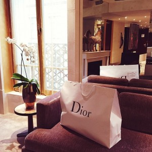 Good morning from the @parkhyattparis. It's a @dior kind of day