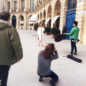 Shooting in Paris for @xoxothemag with the team! @ellinanderegg @copdam @elif_gedik @frederickteglia