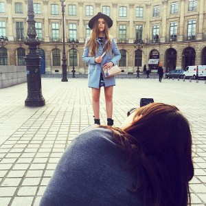 Shooting this gorgeous @gucci coat today on place Vendôme for @xoxothemag with @ellinanderegg