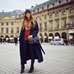 "NEW article on www.kayture.com ""Staying Warm in Paris"" in my boyfriend @isabelmarant coat, @stellamccartney sweater and cozy beanie! See you there"