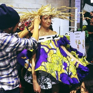 Backstage at the @viktor_and_rolf haute couture show!