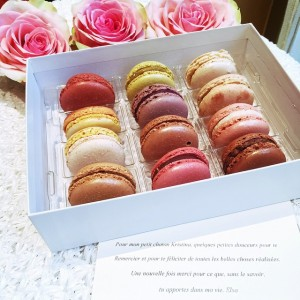 Okay so here's what happened… As I came back in my room at the @parkhyattparis, I see this little box of macarons waiting (my favourite ones!!!), I open it to find the nicest, most heartwarming little note from my sweetheart @elsa_tysebaert who has been one of my loveliest, kindest, and attentionate readers ever. I love you girl so SO much. I really want to meet you so incredibly bad. This means so much to me. I am thankful beyond words and sure that we'll see each other in 2015, we'll do everything to make it happen