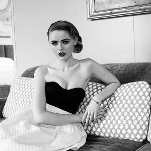 That time I got to play Grace Kelly for a day! Almost feels like this picture was shot in the 40ies