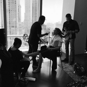 Shoot in progress for @wmag (very fancy situation going on). Get ready for something extra special