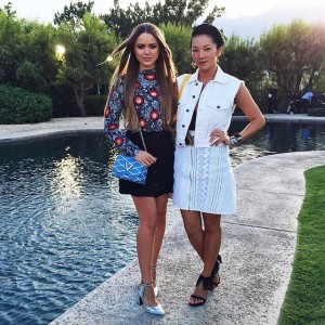 With my girl @tinaleung after the gorgeous @louisvuitton show in Palm Springs #LVCruise #kaytureonthego
