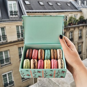 Woke up this morning at the @parkhyattparis to this treasure. Thanks to @maisonladuree for these sweet treats! #parkhyattparis #maisonladurée #kaytureplaces