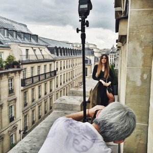 Kicking off the day with an exciting shoot for @ElleJapan at the @parkhyattparis ⚡️☁️ #ElleJapan