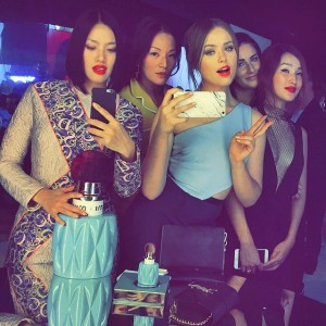 With the girls at the @miumiu club