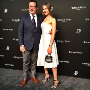 Arriving at the @audemarspiguet dinner with their CEO, François-Henry Bennahmias #audemarspiguet