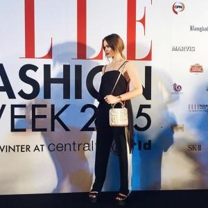 Yesterday arriving at the @ellethailandofficial Fashion Week #kaytureonthego