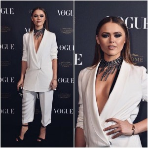 Thanks to @vogueparis for such a beautiful event, had a great time celebrating their 95th anniversary. Here wearing a @lanvinofficial suit and necklace #VogueParis95 #PFW (P.S this is an oversized blazer for those who didn't understand, it falls right above the knee. The whole point of fashion to me is to be playful and explore with proportions.)