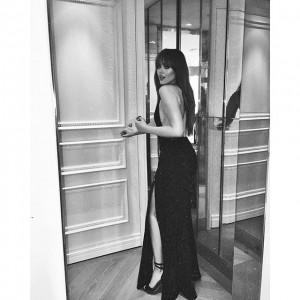 Ready for tonight's @amfar Gala in New York wearing @houseofcb ✖️ #amfARNewYork